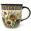 Polish Pottery 12-oz WISHFUL Coffee Mug | ARTISAN