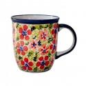 Polish Pottery LOVE 12-oz Stoneware Coffee, Tea, Cocoa Mug | ARTISAN
