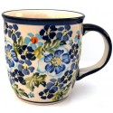 POLISH POTTERY STONEWARE MUG | TRUE BLUES