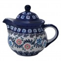 Polish Pottery HERITAGE HOME Personal 10-oz Stoneware Teapot | CLASSIC