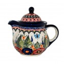 Polish Pottery BUTTERFLY MERRY MAKING Personal 10oz Stoneware Teapot