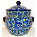 Polish Pottery BLUE LAGOON 7.6-Cup Stoneware Canister | UNIKAT