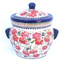 Polish Pottery LOVE BLOSSOMS 16-Cup Stoneware Canister | EX-UNIKAT
