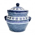 Polish Pottery DEAREST FRIENDS 16-Cup Stoneware Canister | ARTISAN