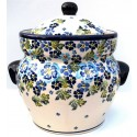 Polish Pottery TRUE BLUES 12-cup Stoneware Canister | ARTISAN