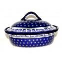 "Polish Pottery CELEBRATE 12.5"" Covered Stoneware Casserole | CLASSIC"