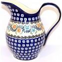 Polish Pottery HERITAGE HOME 2-Quart Stoneware Pitcher | CLASSIC