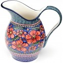 Polish Pottery CHERISHED FRIENDS 2- Quart Stoneware Pitcher | UNIKAT