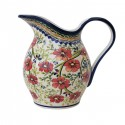 Polish Pottery LOVE BLOSSOMS 2-Quart Stoneware Pitcher | EX-UNIKAT