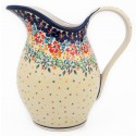 Polish Pottery FLOWERING SPLENDOR 2-Quart Stoneware Pitcher | UNIKAT