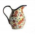Polish Pottery RED BACOPA 2- Quart Stoneware Pitcher | UNIKAT