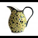 Polish Pottery BLUE CITRINE 2-Quart Stoneware Pitcher | UNIKAT