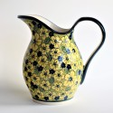 Polish Pottery BLUE CITRINE 2- Quart Stoneware Pitcher | UNIKAT
