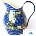 Polish Pottery GRAPES 2- Quart Stoneware Pitcher | ARTISAN