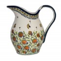 Polish Pottery WISHFUL 2-Quart Stoneware Pitcher | ARTISAN