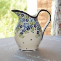 Polish Pottery TRUE BLUES 2- Quart Stoneware Pitcher | ARTISAN