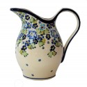 Polish Pottery TRUE BLUES 2-Quart Stoneware Pitcher | ARTISAN