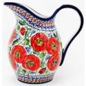 Polish Pottery BELLISSIMA 2-Quart Stoneware Pitcher | EX-UNIKAT