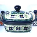 Polish Pottery DEAREST FRIEND 2-Cup Stoneware Butter Box | ARTISAN