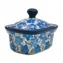 Polish Pottery BLUE HARMONY 6-inch Stoneware Butter Box/Mini Baker | UNIKAT