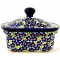 Polish Pottery FRIENDSHIP 2-Cup Stoneware Butter Box | ARTISAN