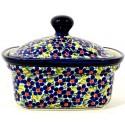 Polish Pottery FRIENDSHIP 2-Cup Stoneware Butter Box | ARTISAN