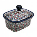 Polish Pottery COLOR ME LOVE 6-inch Stoneware Butter Box/Mini Baker | ARTISAN