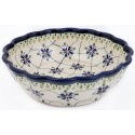 Polish Pottery SWEETHEART Scalloped Stoneware Serving Bowl | ARTISAN