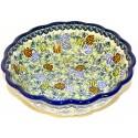 Polish Pottery PINECONE Scalloped Stoneware Serving Bowl   ARTISAN