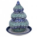 Polish Pottery CELEBRATE Designer Stoneware Candle Holder | CLASSIC