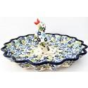 "Polish Pottery TRUE BLUES 13"" Stoneware Quiche-Pie Dish | ARTISAN"
