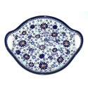"Polish Pottery 4TH OF JULY 12.5"" Round Stoneware Handled Platter   ARTISAN"