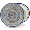 "Polish Pottery Vena LUCKY 10.25"" Dinner Stoneware Plate"