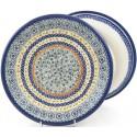 "Polish Pottery Vena JOANN-B 10.25"" Dinner Stoneware Plate"
