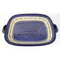 Polish Pottery Stonware  Serving Trays with Handles | HERITAGE