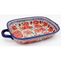 "Polish Pottery 14"" BELLISSIMA Serving Trays With Handles 