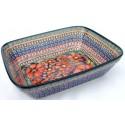 "Polish Pottery CHERISHED FRIENDS 10"" Rectangular Stoneware Bake-n-Serve   UNIKAT"