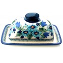 Polish Pottery NORDIC 2-Piece Covered Stoneware Butter Dish | UNIKAT