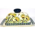 Polish Pottery WISH 2-Piece Covered Stoneware Butter Dish | ARTISAN