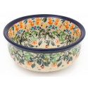 Polish Pottery FLOWERING SPLENDOR Small Stoneware Bowl | UNIKAT