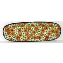 "Polish Pottery 18"" RED BACOPA Baguette Platter 