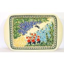 Polish Pottery DRAGONFLY Stoneware Handled Rectangular Serving-Baker | ARTISAN