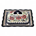 Polish Pottery LOVE BLOSSOMS Fancy Stoneware Butter Dish | EX UNIKAT