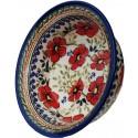 Polish Pottery LOVE BLOSSOMS 17-oz Flared Top Stoneware Bowl   EX-UNIKAT