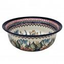Polish Pottery BUTTERFLY MERRY MAKING 61-oz Flared Top Stoneware Bowl   UNIKAT