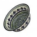 "Polish Pottery FLORAL ROYAL 10"" Stoneware All Purpose Baker-Serving Bowl 