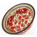 "Polish Pottery LOVE BLOSSOMS 10"" Stoneware Serving Bowl 