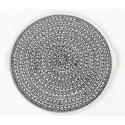 Polish Pottery ELEGANT TIMES EX LG Round Stoneware Platter-Pizza Stone | CLASSIC