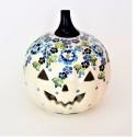 Polish Pottery TRUE BLUES Stoneware Jack-O-Lantern | ARTISAN