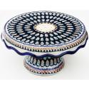Polish Pottery LIMITED EDITION Pedestal Stoneware Cake Plate   ARTISAN